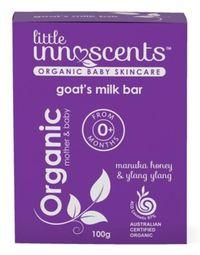 Little Innoscents: Goats Milk Cleansing Soap - Manuka Honey & Ylang Ylang (100g)