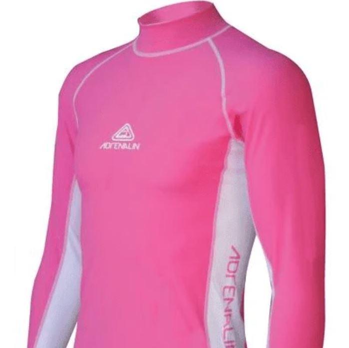 Adrenalin Junior Long Sleeve Rashvest - Pink (Size 12) image