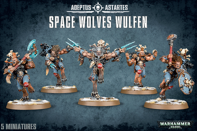 Warhammer 40,000 Space Wolves Wulfen