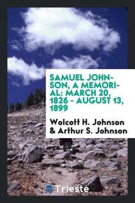 Samuel Johnson, a Memorial by Wolcott H Johnson image
