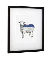 Framed Art Print - 'Super Ewe'