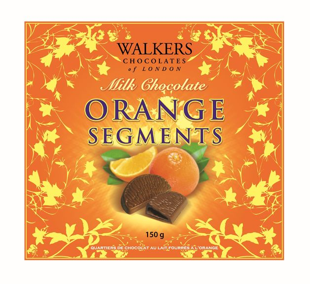 Walkers Milk Choc Orange Segments 150g