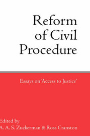 The Reform of Civil Procedure image