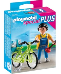Playmobil: Handyman with Bike (4791)