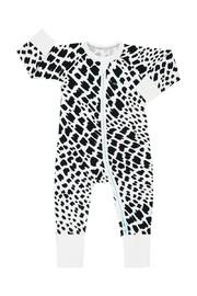 Bonds Zip Wondersuit Long Sleeve - Wild Rafiki Whiite (3-6 Months)