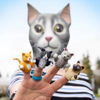 Archie McPhee: Finger Cats - Finger Puppet (Assorted Designs) [10 Pack Bundle]