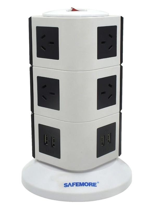 Safemore: 3 Level Power Board - Black