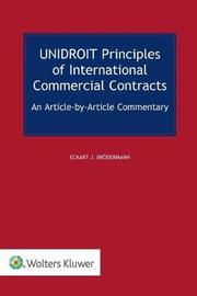 The Unidroit Principles by Eckart Broedermann image