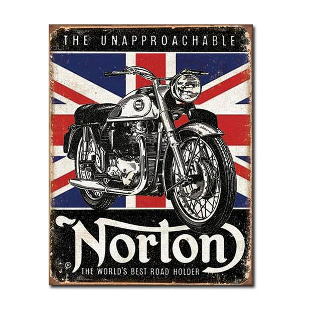 Norton Best Roadholder Retro Tin Sign