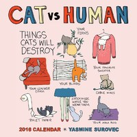 Cat Vs Human 2016 Wall Calendar by Yasmine Surovec image