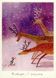 Two Bad Mice: Rudolph, I Presume - Greeting Card