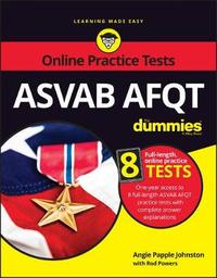 ASVAB AFQT For Dummies by Angie Papple Johnston