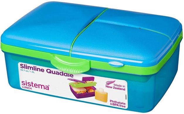 Sistema: Slimline Lunch Quaddie - 1.5L (Assorted Colours)
