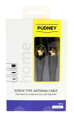 Pudney: F Plug To F Plug Flylead RG6 - 2 Metre