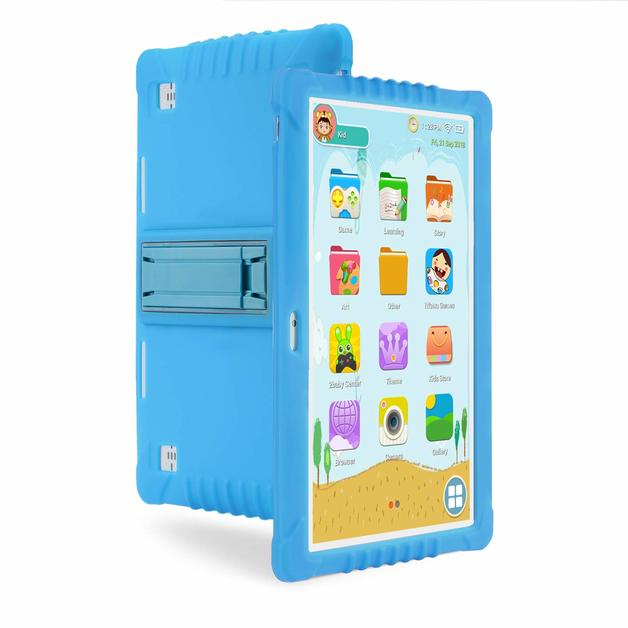 Ape Basics: 10.1 Quadcore Kids Android Tablet & Case - Blue