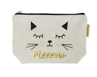 Canvas Cosmetic Bag (Meeeow)