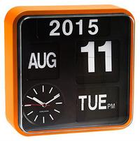 Karlsson Mini Flip Calendar Wall Clock - Orange