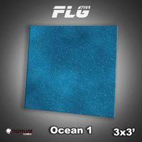 FLG Ocean #1 Neoprene Gaming Mat (3x3)