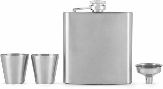 True: Fiasco - Flask & Shot Glass Set
