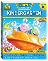 School Zone Giant Kindergarten Workbook