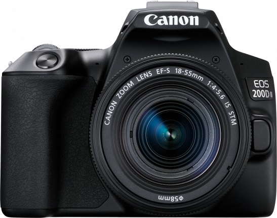 Canon: EOS 200D Mk II 24.1MP APS-C DSLR Camera - Single Lens Kit