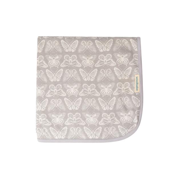 Woolbabe: Merino/Organic Cotton Swaddle/Blanket Monarch