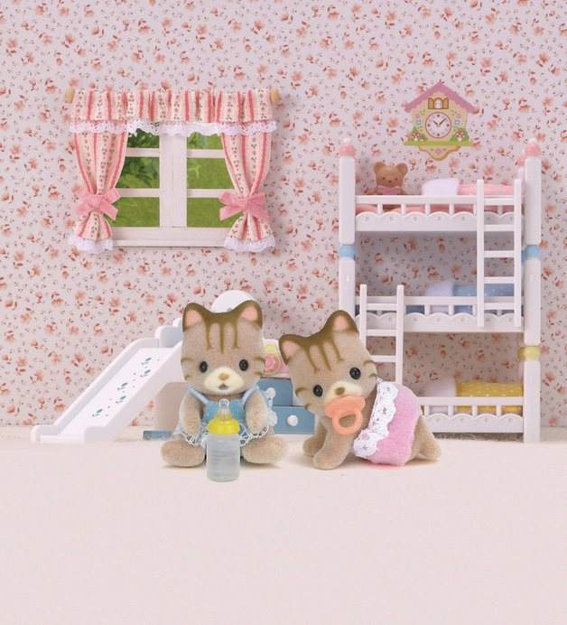 Sylvanian Families: Striped Cat Twins