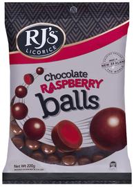RJ's Chocolate Raspberry Balls (220g)