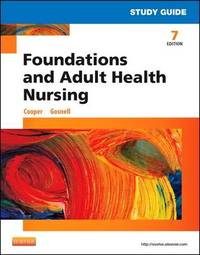 Study Guide for Foundations and Adult Health Nursing by Kelly Gosnell image