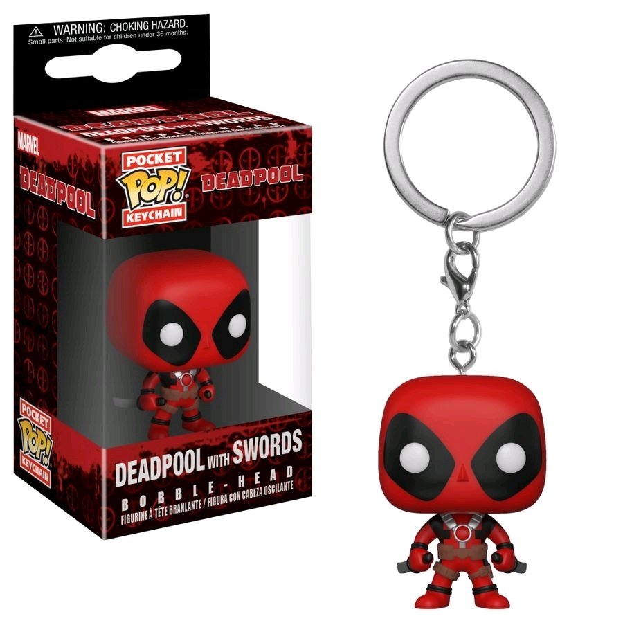 Marvel: Deadpool (with Swords) - Pocket Pop! Key Chain image