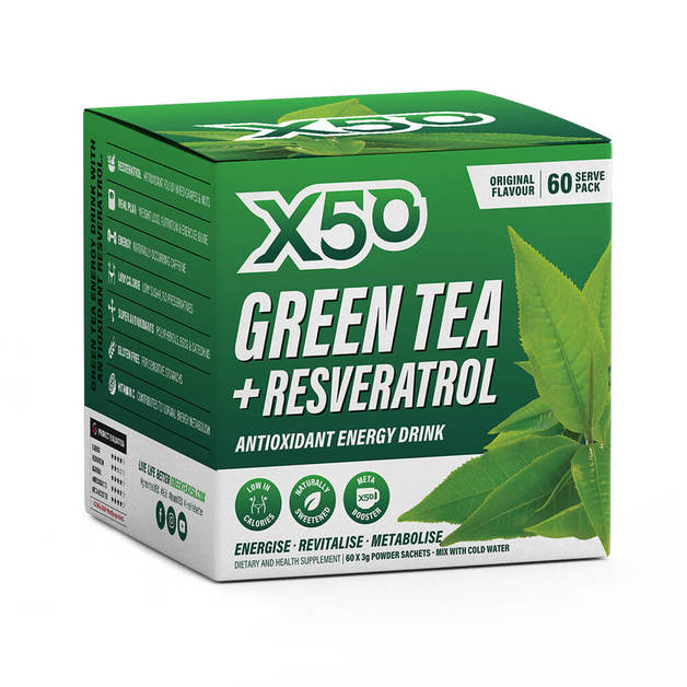 Green Tea X50 + Resveratrol - Original (60 Serves)