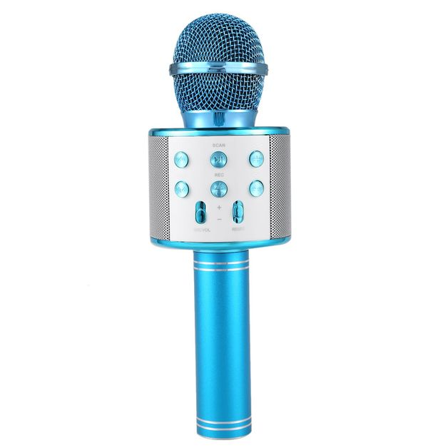 Karaoke Microphone with Bluetooth Speaker - Blue