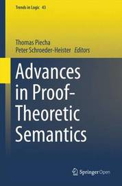 Advances in Proof-Theoretic Semantics