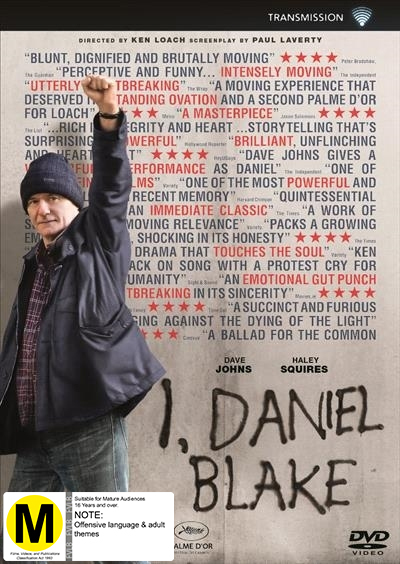 I, Daniel Blake on DVD image