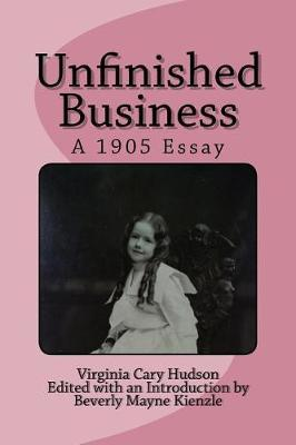 Unfinished Business by Virginia Cary Hudson image