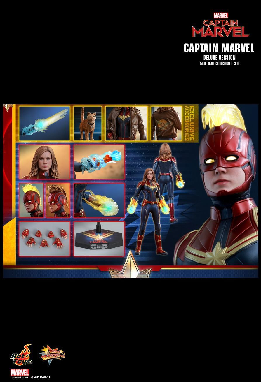 """Captain Marvel: Captain Marvel (Deluxe) - 12"""" Articulated Figure image"""