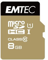 8GB Emtec Micro SD Card Gold+ (Class 10)