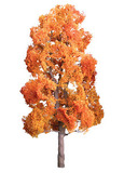 """JTT Scenic Late-Fall Sycamore Trees 4"""" (2pk) - H0 Scale"""