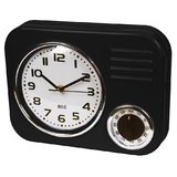Retro Kitchen Clock & Timer - Black
