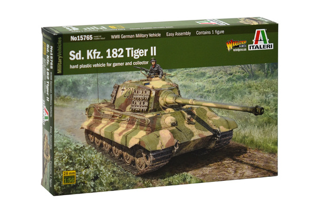 Italeri 1/56 King Tiger (Warlord Games) - Scale Model Kit
