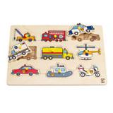 Hape: Emergency Vehicles Peg Puzzle