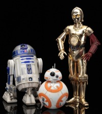 Star Wars: 1/10 Artfx+: R2-D2 & C-3PO with BB-8