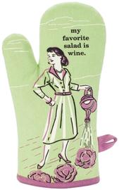 Blue Q Oven Mitt - My Favourite Salad is Wine