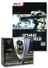 Razer Diamondback Chameleon Green Gaming Mouse (includes Battlefield 2142!)