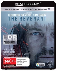 The Revenant on Blu-ray, UHD Blu-ray, UV