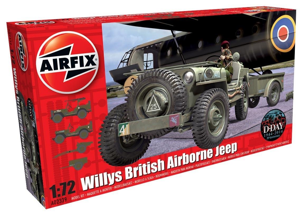 Airfix 1:72 Willys British Airborne Jeep - Model Kit image