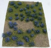 """JTT: HO Scale Flowering Meadow Sheet - Purple (5"""" x 7"""")"""
