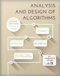 Analysis and Design of Algorithms by Amrinder Arora image