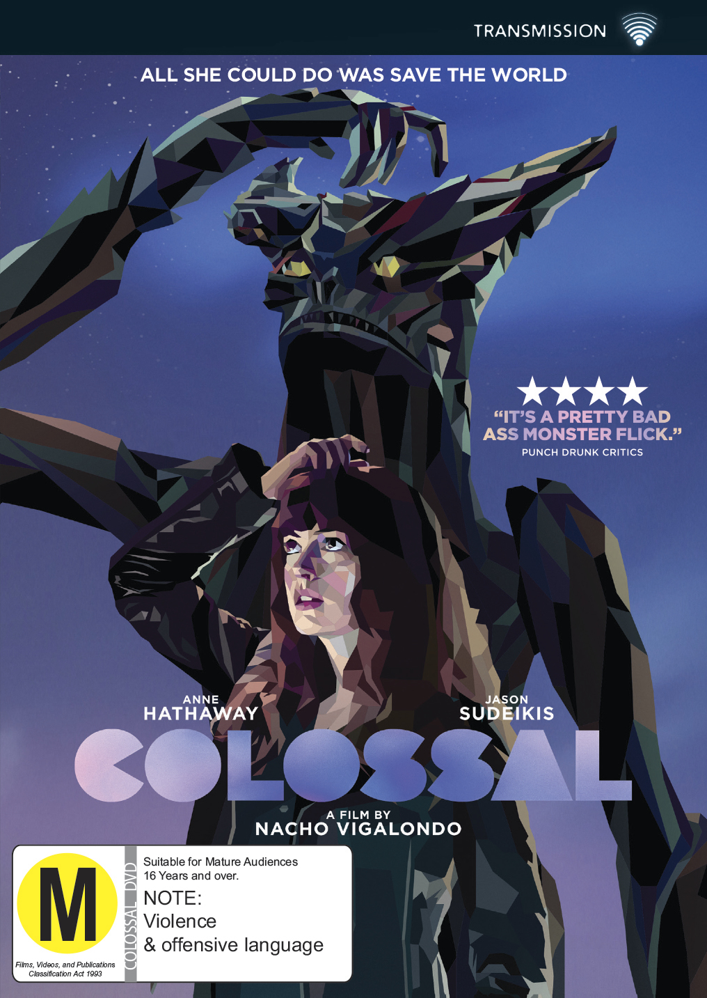 Colossal on DVD image