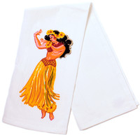 Sourpuss: Hula Girl Dish Towel